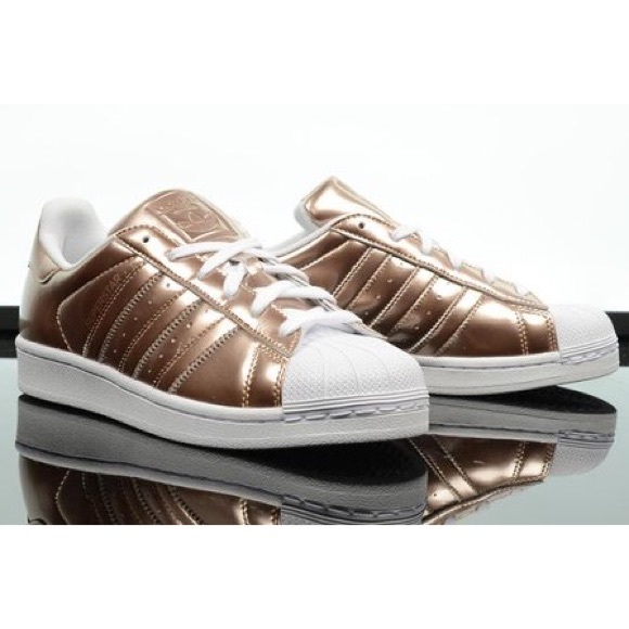 adidas adidas rose gold superstars from s 39 s closet on. Black Bedroom Furniture Sets. Home Design Ideas