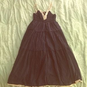 Swell Dresses & Skirts - Navy blue eyelet dress