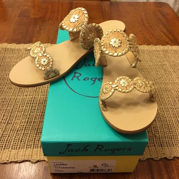 986b2902d8ec9 Jack Rogers Shoes - Jack Rogers Lauren Sandal Cork Gold