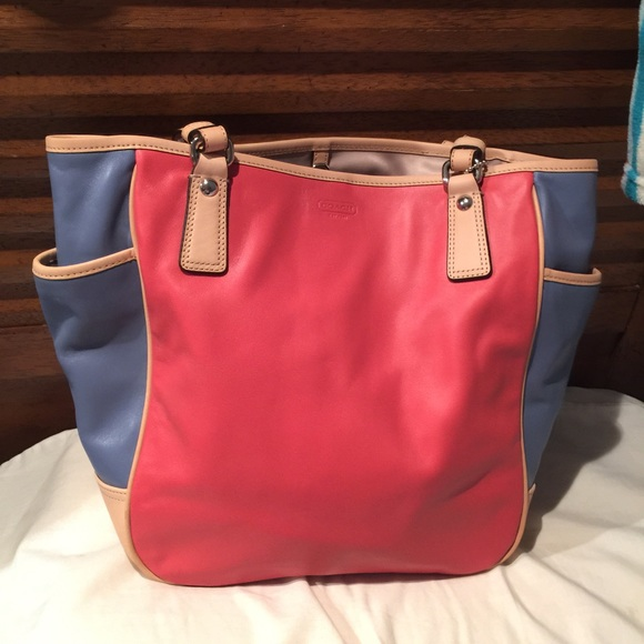 aec5f2ee5eb3 Coach Park leather Color Block Tote
