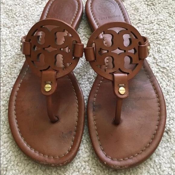 c025516b6eb Tory Burch vintage Vachetta Miller sandals 8. M 57240e9f5c12f818e201ac7e