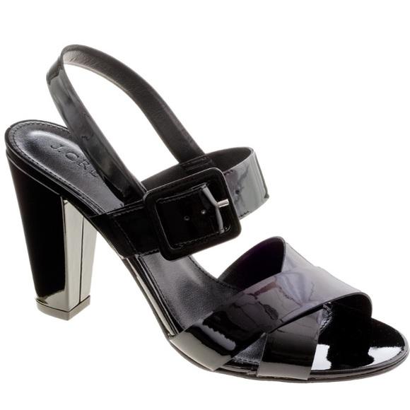 365c685b322 J. Crew Shoes - J. Crew Sydney Black Patent Sandals - Sz 10