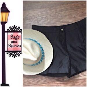 KATE SPADE New York Black Silk Blend Shorts Size 6