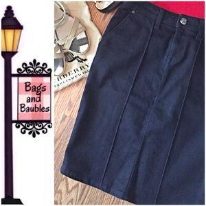 BURBERRY Dark Denim Pencil Skirt, Size 4