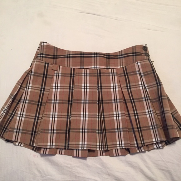 48% off Burberry Dresses & Skirts - Brown Plaid School Girl Skirt ...