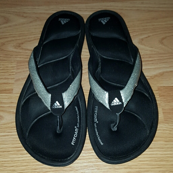 0912572e7 Adidas Shoes - Adidas Fitfoam Glitter Flip Flops Thong Sandals