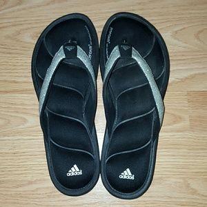 301f2752197b22 Adidas Shoes - Adidas Fitfoam Glitter Flip Flops Thong Sandals