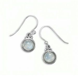 THE AURORA CO. moonstone & .925 silver earrings