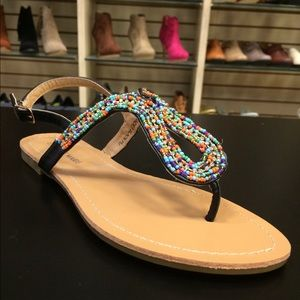 Anne Marie Shoes - 💄Back Beaded Sandal💄