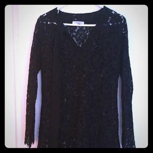 Designer Sandro lace black Dress