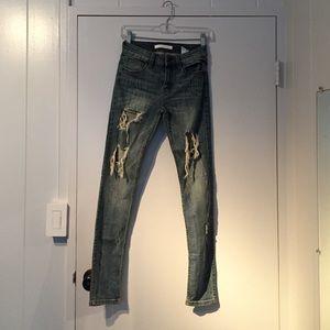 Women's Levis Destroyed Jeans on Poshmark