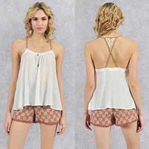 SUSIE sexy back tank - OFF WHITE