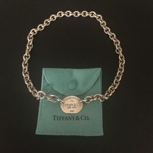 Tiffany dog tag necklace