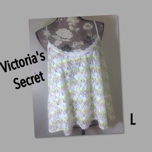 Victoria's Secret Lace Babydoll Camisole NWOT L