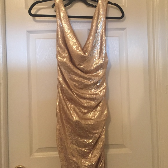 Nicole Miller Champagne Dress – fashion dresses
