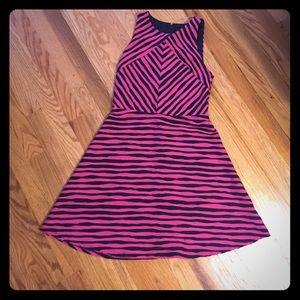 Xhilaration Dresses Hot Pink And Navy Blue Striped Dress Poshmark