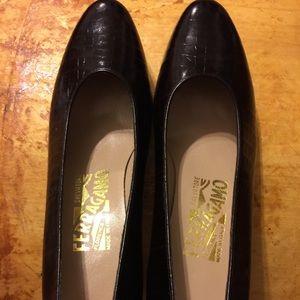 Ferragamo brown shoes