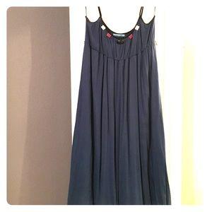 Velvet Dresses & Skirts - Blue Dress