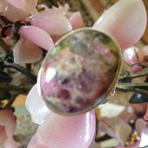 Vintage watermilon tourmaline Jewelry - Vintage 925 watermelon Tourmaline ring