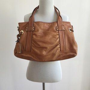 b. makowsky Handbags - B. MAKOWSKY | Cognac Leather Shoulder Bag