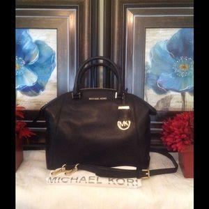 Michael Kors Riley Satchel - NWT -Black