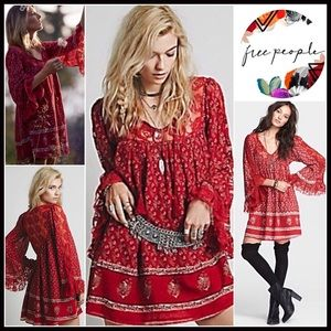 Free People Dresses & Skirts - ❗️1-HOUR SALE❗️Free People Boho Mini Tunic Dress