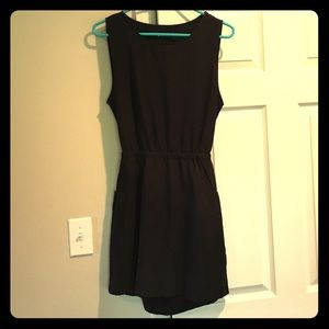 Black dress with open lower back