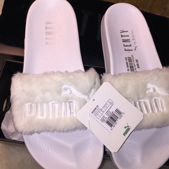 red rihanna fenty puma slides