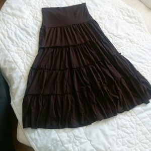 Dresses & Skirts - Skirt - Brown, Tiered  Size Small