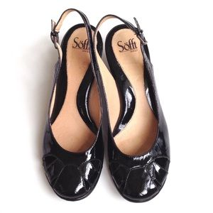 Sofft Shoes - Sofft Black Patent Leather Vintage Heels, Sz 9.5