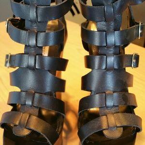Steve Madden Shoes - Cortknee ultra high wedge sandals /platform