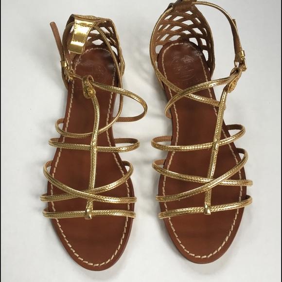 b56bbcf3c860 NWOT Tory Burch Gold Strap Gladiator Sandals. M 576942a213302afcf2076076