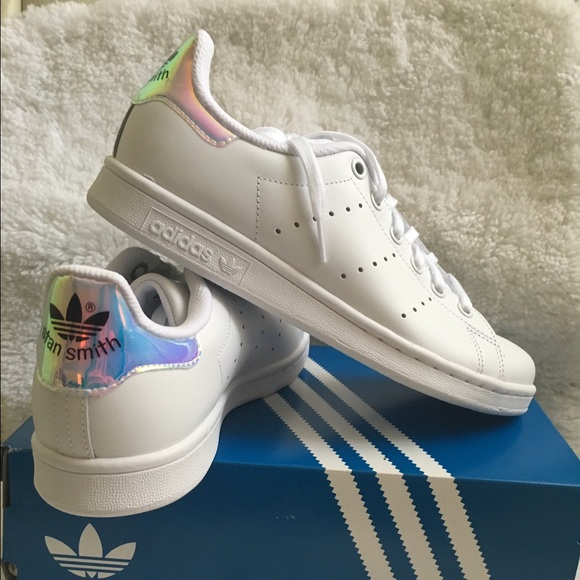 timeless design f5f16 d5dea Adidas Stan Smith Metallic Iridescent Heels