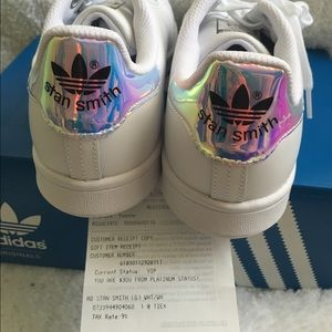 purchase cheap 6857e 68bac Adidas Shoes - SOLD Adidas Stan Smith Metallic Silver Hologram