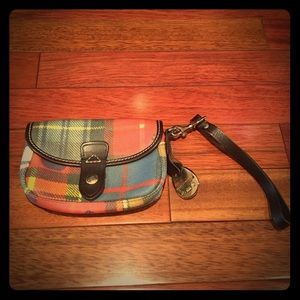 Dooney and Bourke Plaid Clutch