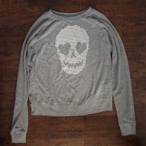 Sweaters - Skull/Heart Patterned Design Sweater