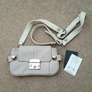 Be & D Handbags - Be & D Bag Crossbody Purse Stud Cream Fanny