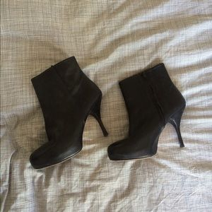Emerson Fry High-heeled platform ankle boots.