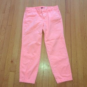 J.Crew City Fit Pink Chino Pants