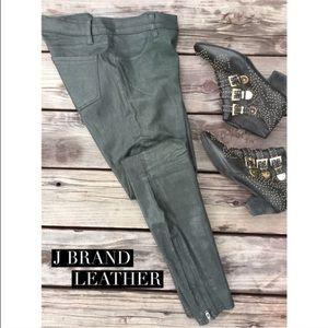 J brand Forest green leather leggings