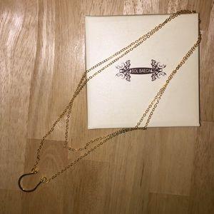 Jewelry - 24k gold plated Sol Baeca horseshoe necklace 🐴