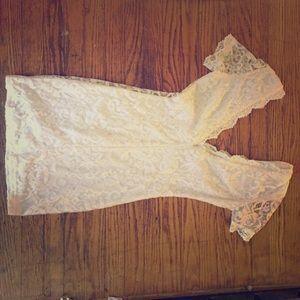 White lace Tobi dress