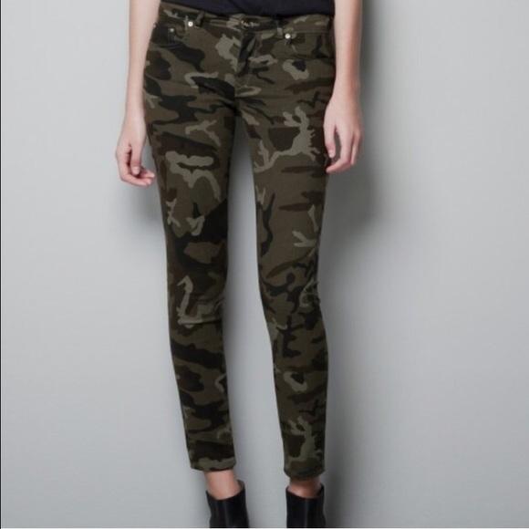 Innovative Zara Studded Camouflage Trousers  Polyvore