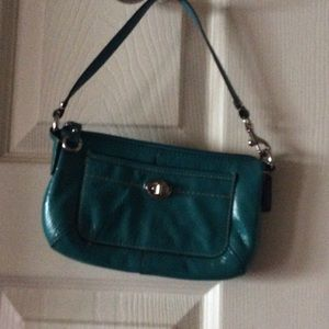 Coach wristlet in patent leather