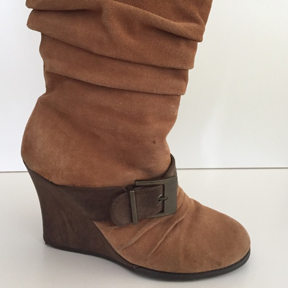Scholl Shoes Wedge Suede Boots