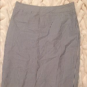 J. Crew Striped Pencil Skirt Size 4