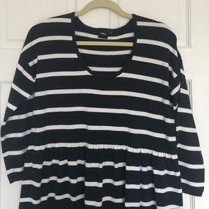 Babydoll Style Striped Dress