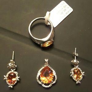 Jewelry - Azotic gem & diamnd plat/.925 SS
