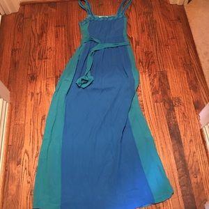 Kensie blue/Aqua color block maxi dress