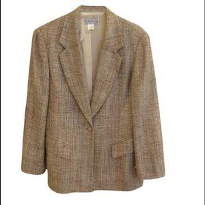 Jackets & Blazers - ‼️flash - Saks 5th LIKE NEW woven silk blazer